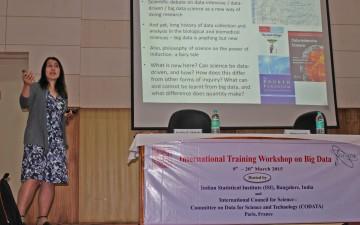Sabina Leonelli presented at ICSU CODATA International Training Workshop
