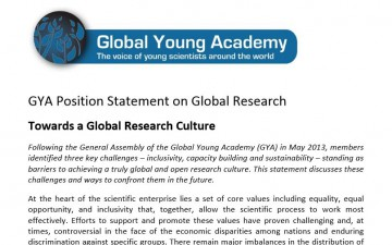 GYA Position Statement on Global Research