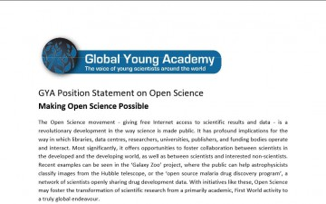 GYA Position Statement on Open Science