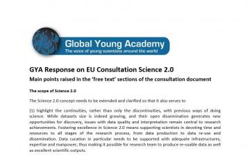 GYA Response on EU Consultation Science 2.0