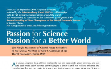 Passion for Science Passion for a Better World