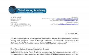 GYA on the Post-2015 Development Agenda