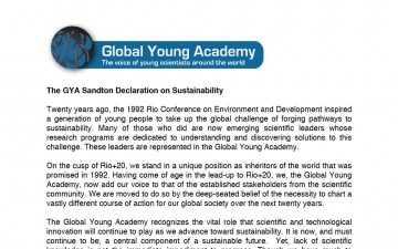 The GYA Sandton Declaration on Sustainability