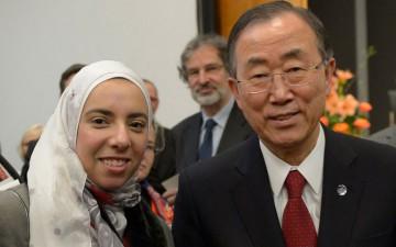 GYA Elagroudi and UN Secretary-General Ban Ki-moon at the inaugural meeting of the UN SAB. © DUK/photothek