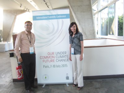 "GYA members Julia Baum and Manjur Karim at ""Our Common Future Under Climate Change"" conference"