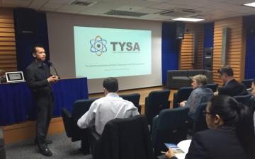 GYA member Numpon presenting TYSA