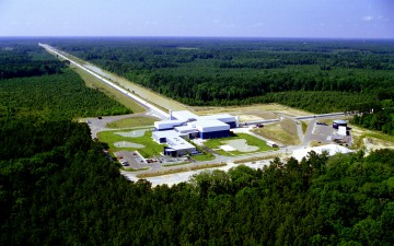 Detector site of LIGO Livingston (Louisiana, USA), which was used for the detection of the Gravitational Waves. Image: © Caltech/MIT/LIGO Lab