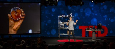 Andrew Spelling speaks at TED2016 in Vancouver Photo: Marla Aufmuth / TED