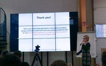 Ivana Gadjanski during her presentation at GOSH! 2016 Conference. Photo: Andrew Pelling/Twitter