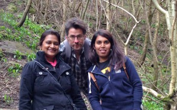 (from left to right:) GYA members Vidushi Neergheen-Bhujun (Mauritius) and Alexander Kagansky (UK) together with the Mauritian PhD-student Rima Beesoo during the field-trip at the Royal Botanical Garden of Edinburgh (UK). Photo: © Vidushi Neergheen-Bhujun / GYA.