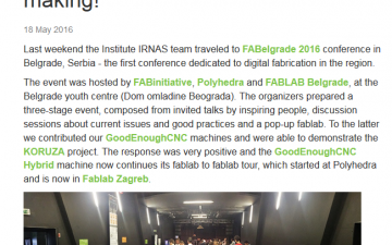 Institute IRNAS on FABelgrade