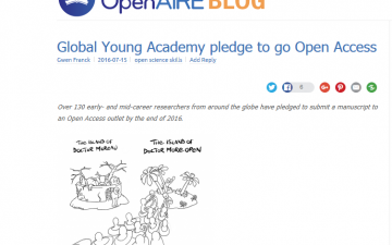 Global Young Academy pledge to go Open Access