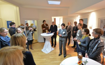 Managing Director Beate Wagner at her opening speech