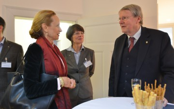 The former Minister for Science from Saxony Prof. Sabine von Schorlemer and Leopoldina President Prof. Jörg Hacker