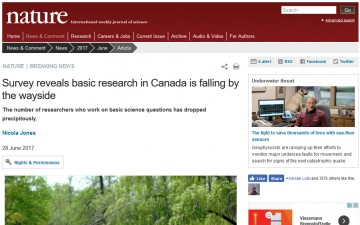 Survey reveals basic research in Canada is falling by the wayside