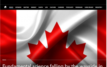Fundamental science falling by the wayside in Canada