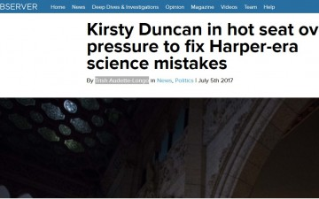 Kirsty Duncan in hot seat over pressure to fix Harper-era science mistakes