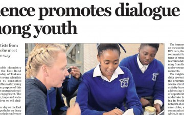 Science promotes dialogue among youth