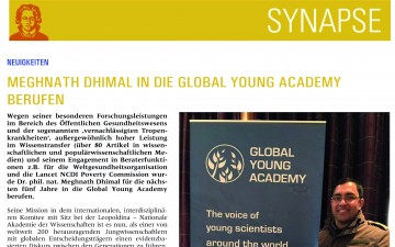 Meghnath Dhimal in die Global Young Academy berufen