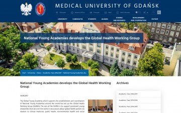 National Young Academies develops the Global Health Working Group