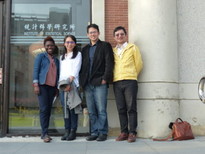 GYA members from left: Tolu Oni, Yi-Hsien Su (alumna), Che Ming Jack Hu, and Hsin-Chou Yang at Academia Sinica