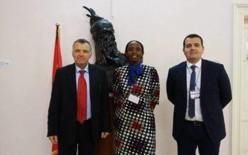 Secretary General Senior Academy, Connie Nshemereirwe and Co Chair NYA