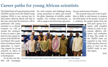 Career paths for young African scientists