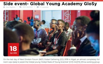 NEF Report: Side-event - Global Young Academy GloSyS