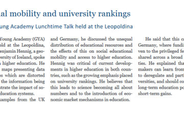 First Global Young Academy Lunchtime Talk held at the Leopoldina