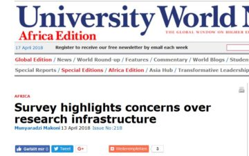 Survey highlights concerns over research infrastructure