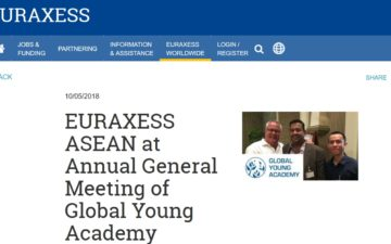 EURAXESS ASEAN at Annual General Meeting of Global Young Academy