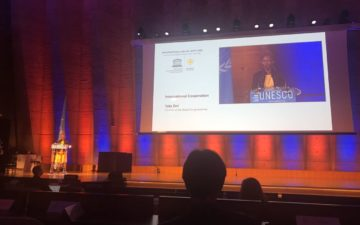 GYA Co-Chair Tolu Oni speaks at UNESCO's international Day of Light