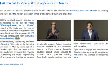 ALLEA Call for Videos: #TrustingScience in 1 Minute