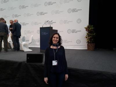 Basak Kandemir at Lindau Nobel Laureate Meeting, 2018