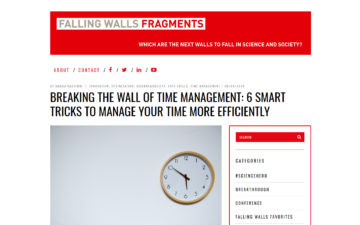 Breaking the Wall of Time Management: 6 Smart Tricks to Manage your Time More Efficiently