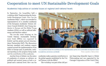 Cooperation to meet UN Sustainable Development Goals