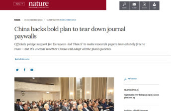 China backs bold plan to tear down journal paywalls