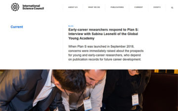 Early-career researchers respond to Plan S: Interview with Sabina Leonelli of the Global Young Academy