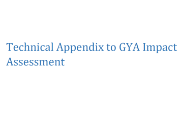 Technical Appendix for the GYA Impact Assessment