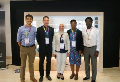 From left, Mirabbos Hojamberdiev, Moritz Riede, Ghada Bassioni, Marian Nkansah and Adewale Adewuyi.