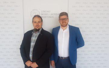 GYA members Michael Backes and Bartlomiej Kolodziejczyk at the 2019 Lindau Nobel Laureate Meeting