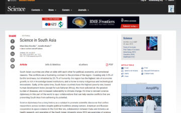 Science in South Asia