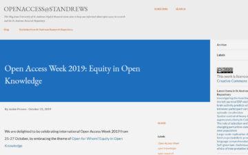 Open Access Week 2019: Equity in Open Knowledge