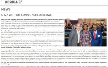 Q&A with Dr. Connie Nshemereirwe