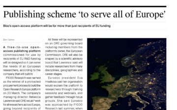 Publishing scheme 'to serve all of Europe'