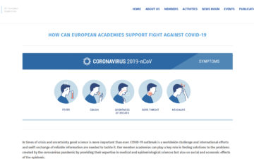 How can European Academies support the fight against COVID-19