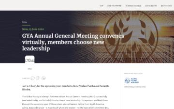 GYA Annual General Meeting convenes virtually, members choose new leadership