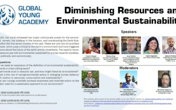 LIVE SESSION: Diminishing Resources and  Environmental Sustainability 1 July
