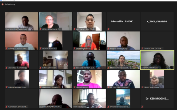 Screenshot from Webinar on the Role of Young Academies in the Development of Africa, October 2020.