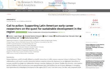 Call to action: Supporting Latin American early career researchers on the quest for sustainable development in the region